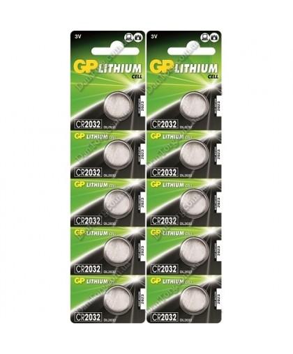 Батарейки GP CR 2032 Lithium