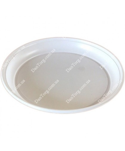Тарелка 205 мм белая (100 шт)