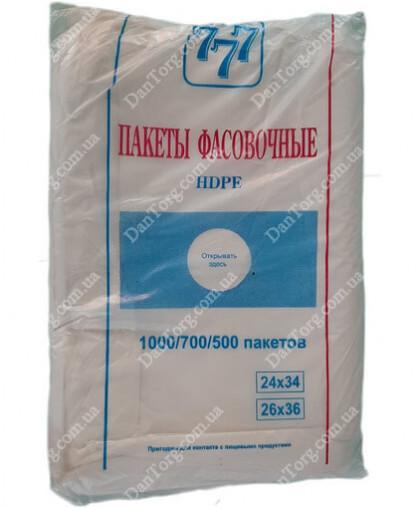 """Фасовочные пакеты Прямые 777 28х36 (900 гр) от """"DantorG"""""""