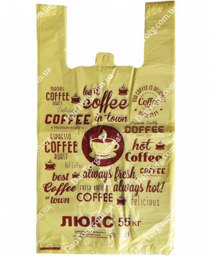 Пакет майка Кофе 30x55