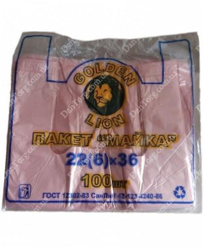 Пакет майка фасовочная Golden Lion 22х36 100 штук