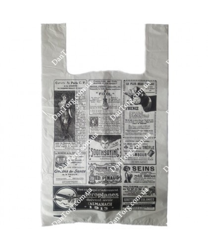 Пакет майка Газета 30х50