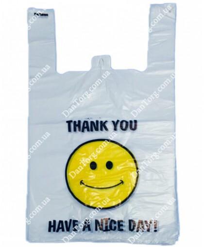 Пакет майка Smile 30х50