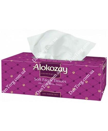 Салфетки Alokozay  200 шт двухслойные гигиенические бумажные