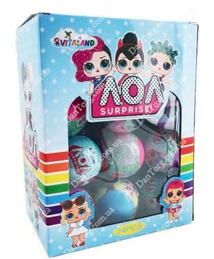 Драже фруктовое + кукла LOL (пластиковый шар)