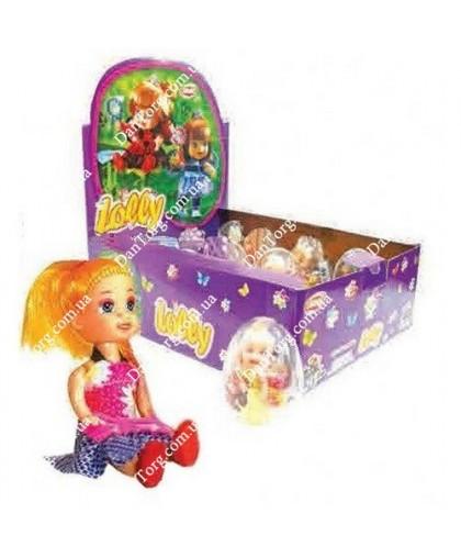 Прозрачное яйцо Лолли с игрушкой и драже
