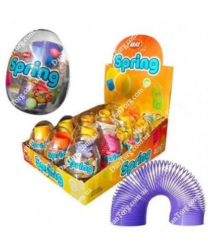 Прозрачное яйцо Спринг с игрушкой и драже