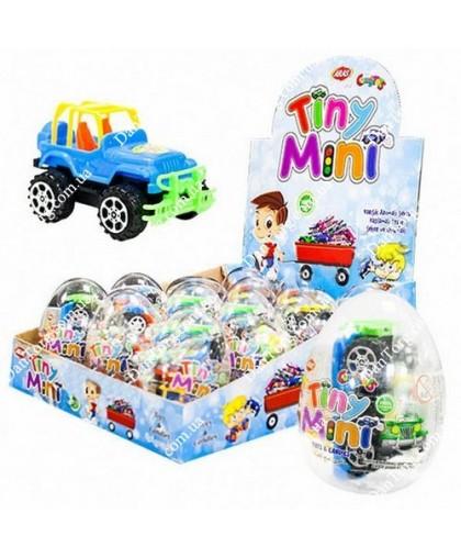 Прозрачное яйцо Тини Мини с игрушкой и драже
