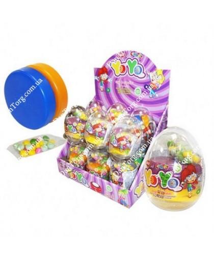 Прозрачное яйцо Йо-йо с игрушкой и драже