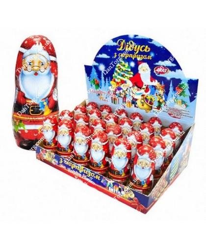 """Шоколадная фигурка Дед Мороз 30 гр с сюрпризом от """"DantorG"""""""