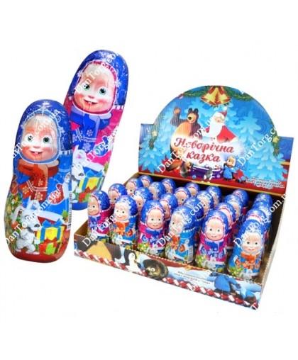 Шоколадная фигурка Маша Новогодняя 30 гр с сюрпризом