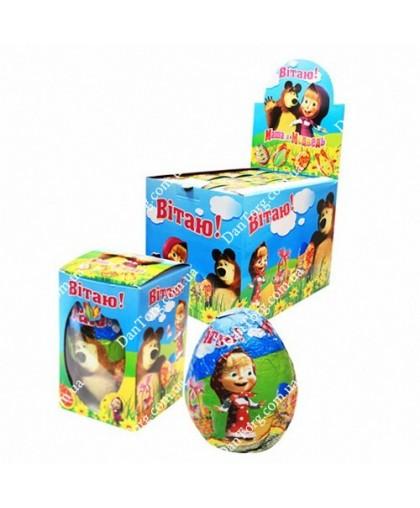 """Шоколадное яйцо Маша и Медведь 60 гр с сюрпризом от """"DantorG"""""""