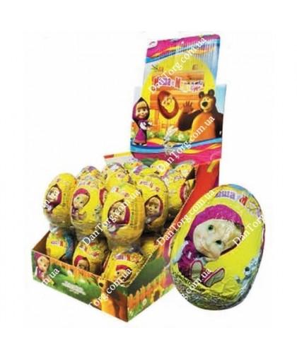 Шоколадное яйцо Маша и Медведь 25 гр с сюрпризом