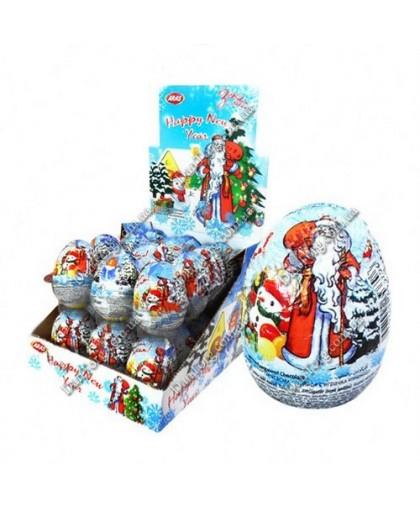 Шоколадное яйцо С Новым Годом с сюрпризом 25 гр