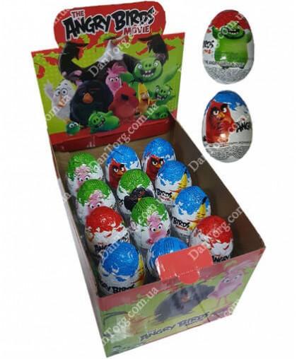 Шоколадное яйцо Angry Birds 25 гр с сюрпризом