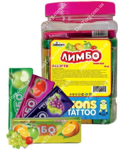 Жевательная конфета в банке Лимбо