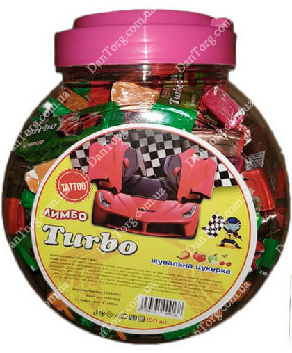 Жевательная конфета в банке Лимбо Turbo Mini