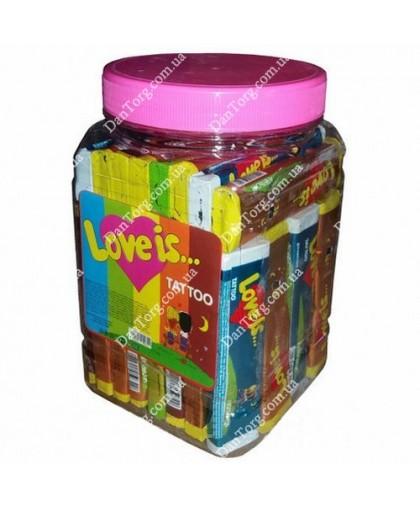 Жевательная конфета в банке Love is