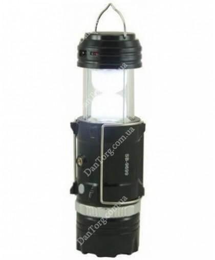 Фонарь LED 9688 аккумуляторный с солнечной панелью
