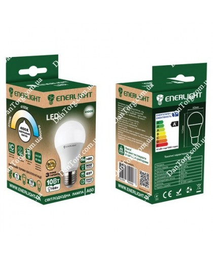 Лампа LED ENERLIGHT  A60 10W E27 4100K 220V