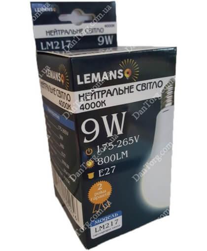 """Лампа LED Lemanso  A60 9W E27 6500K 220V от """"DantorG"""""""