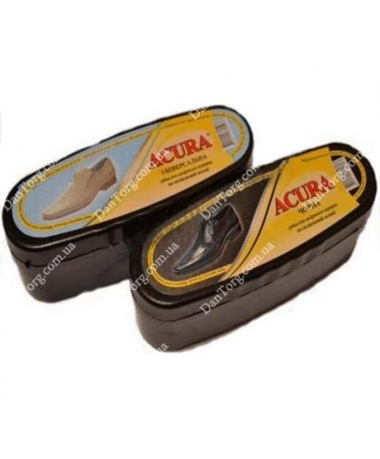 Губка пропитка для обуви ACURA овал черная/универсальная