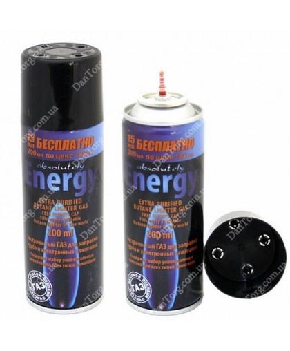Газ для заправки зажигалок Energy/MyFlame 200 мл